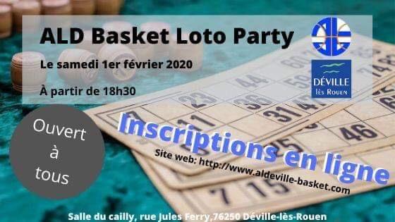 Participez au loto du club le 1er février !